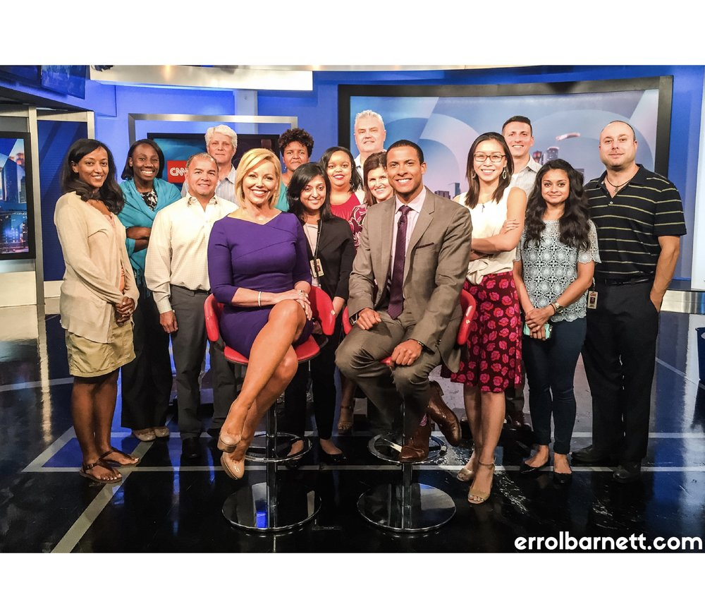 the cnn newsroom team