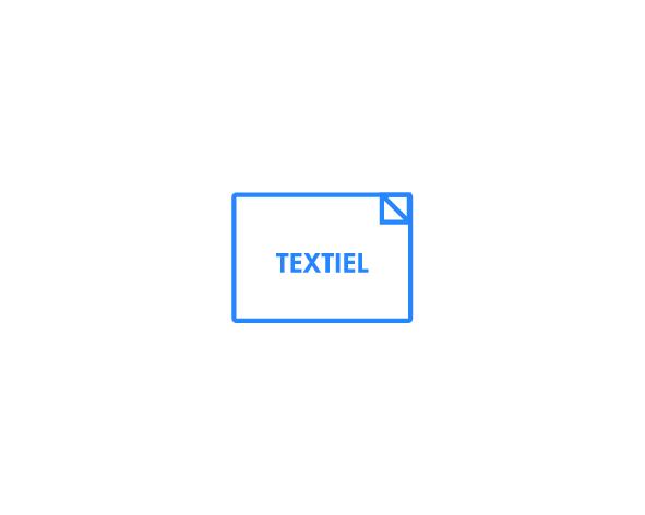 Textiel stickers