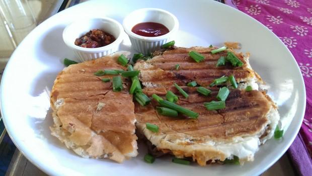 Mushroom Toast @ Bohemyan Blue, Alibaug