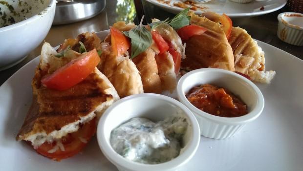 Tomato Basil Sandwich @ Bohemyan Blue, Alibaug