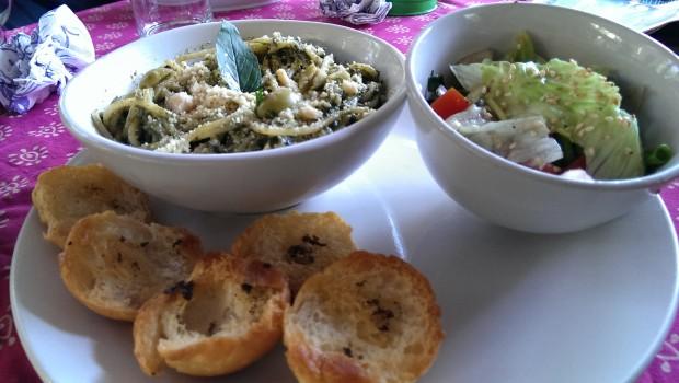 Pesto Pasta @ Bohemyan Blue, Alibaug