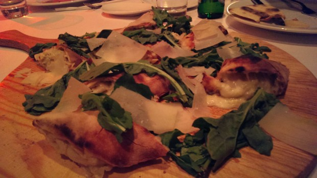 Rolled Pizza with Artichoke @ Mezzo Mezzo, JW Marriott