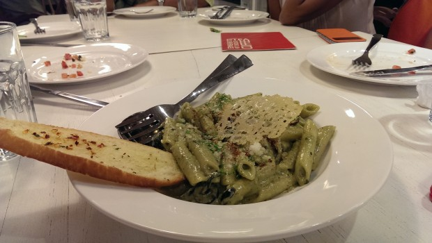 Avocado Pesto Pasta @ Francesco's Pizzeria, Lower Parel