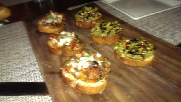 Assorted Crostini (Jain) @ Ristorante Prego, Nariman Point