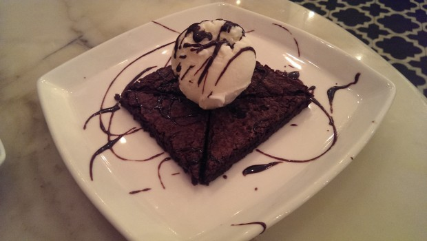 Brownie with Ice Cream @ Mamagoto, Fort