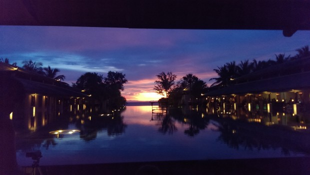 Twilight at the Infinity Pool @ JW Marriott, Phuket