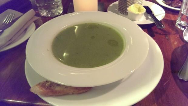 Asparagus Soup @ Indigo Deli, Lower Parel