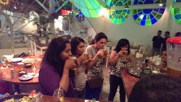 Chugging games! @ Hoppipola, Khar
