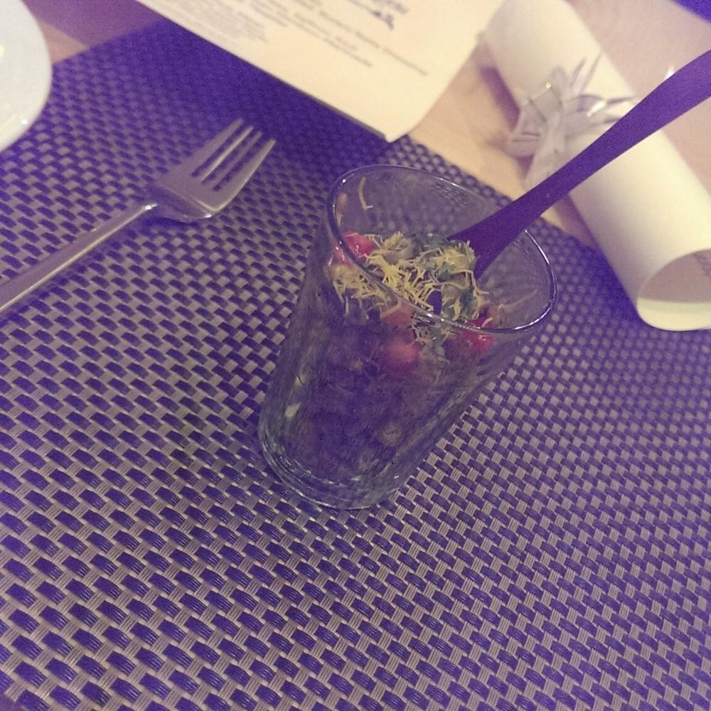 Pickled Olive Bhel @ Punjab Grill, Andheri