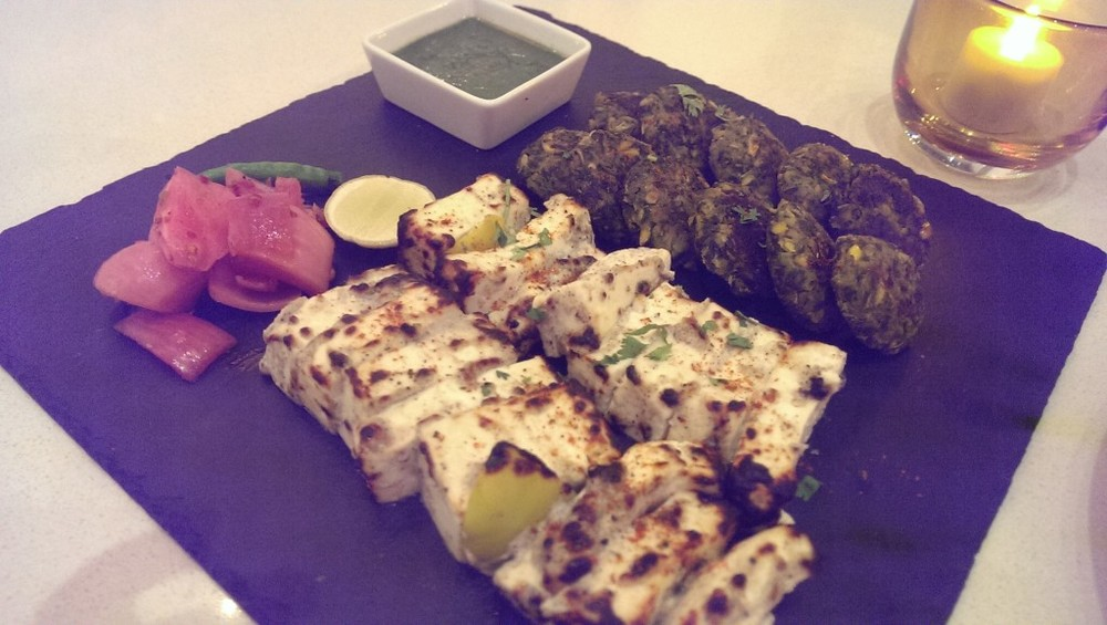 Veg Kebab Platter @ JW Cafe, JW Sahar