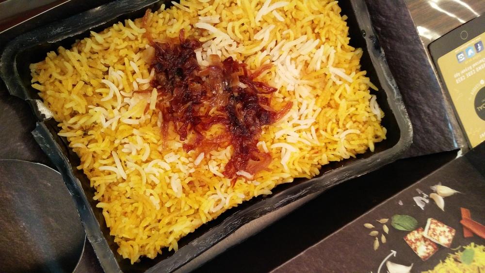 Biryani with Fried Onions @ Charcoal Biryani