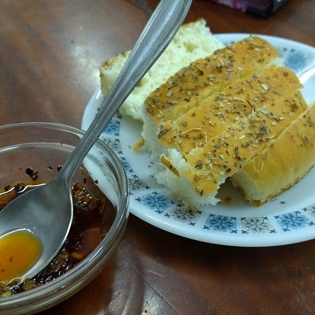 Want a quick snack? Tear up some Foccacia Bread and Dip it in a mix of Olive Oil, Garlic, Paprika, Oregano and Red Wine Vinegar with just a dash of Tabasco for a kick. Satisfaction guaranteed!  #food #bread #snack #dip #vegetarian #quickmeal
