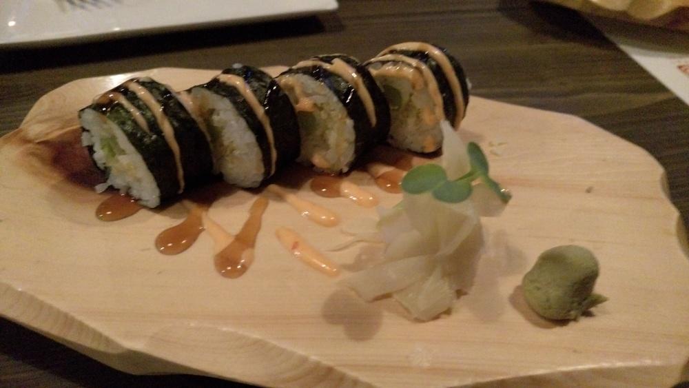 Asparagus Tempura Sushi