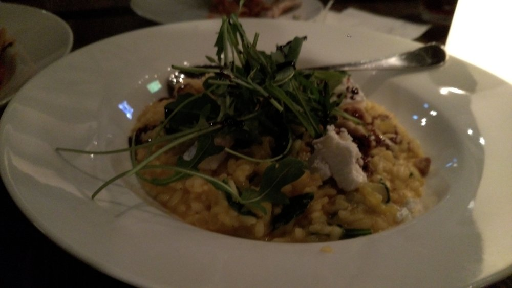 Goat Cheese Risotto with Arugula