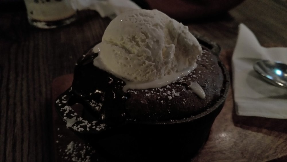 Chocolate Fondant and Vanilla Ice Cream