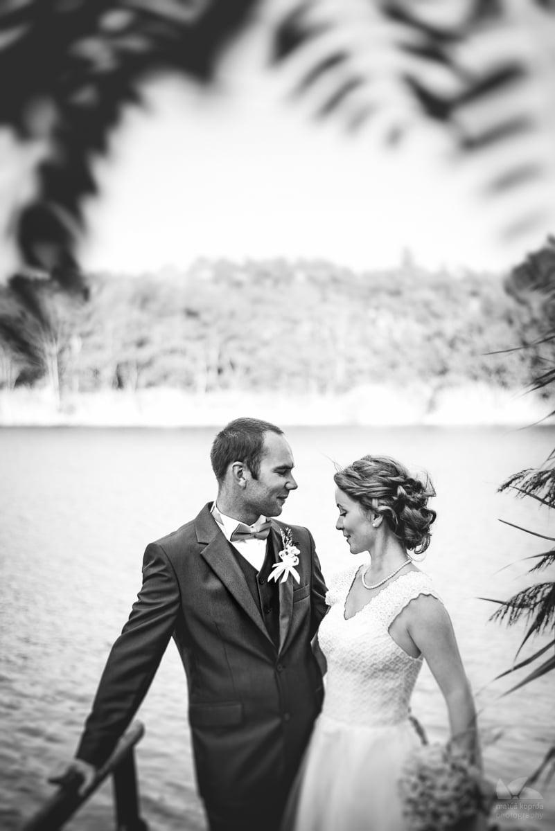 Svadobné čiernobiele fotky