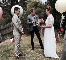 Sarah + John Paul made us feel relaxed and made us feel like old friends straight off the bat! He made the whole process so easy and so relaxed and produced a amazingly funny and genuine ceremony for us. Paul Bonadio - Stand Up Comedian. Stand up Man. Ten stars out of Five..