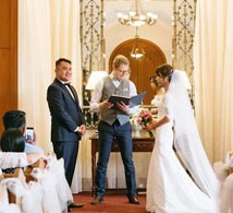Sophy + Kane Paul was a fantastic celebrant with a relaxed charm that made the ceremony memorable. There were no boring bits. He was funny yet professional and catered to what we wanted which was a laid back service. Our guests have also commented positively about the ceremony.