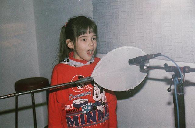 Min første gang i studio! Like stas 27 år etterpå 😁