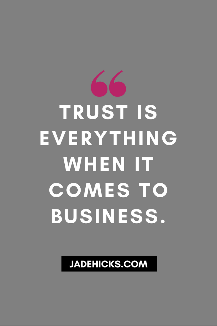 trust consumer confidence strong foundation brand building Jade Hicks Photography