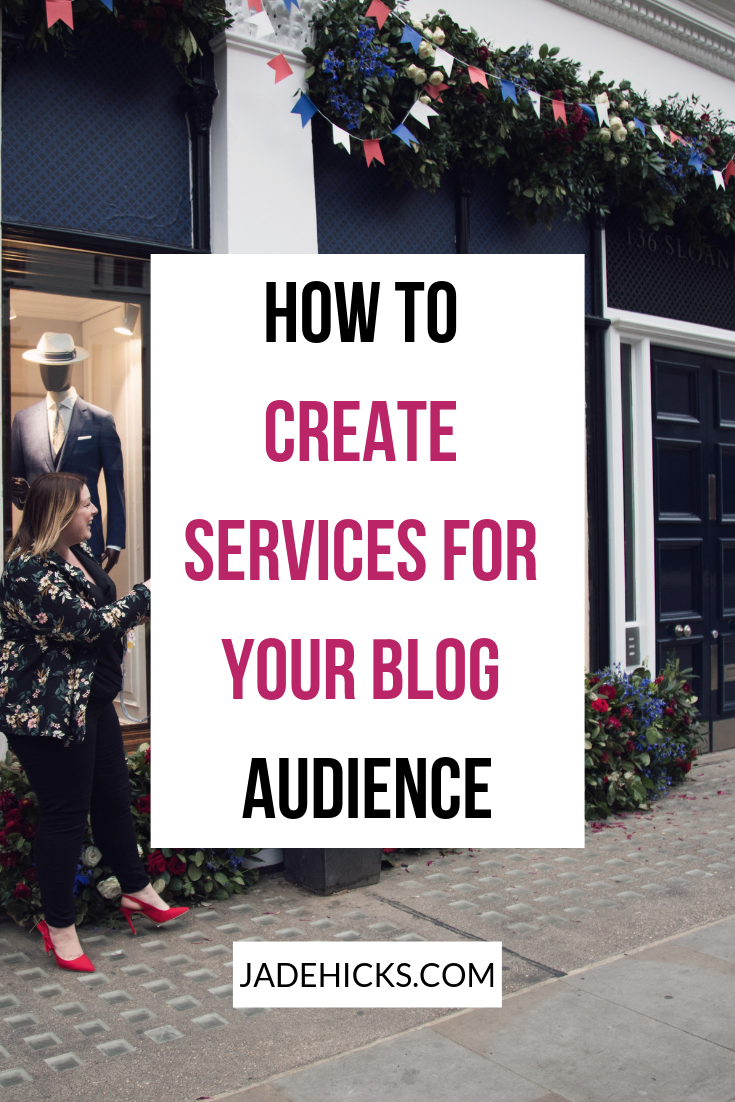 how to create services for your blog audience