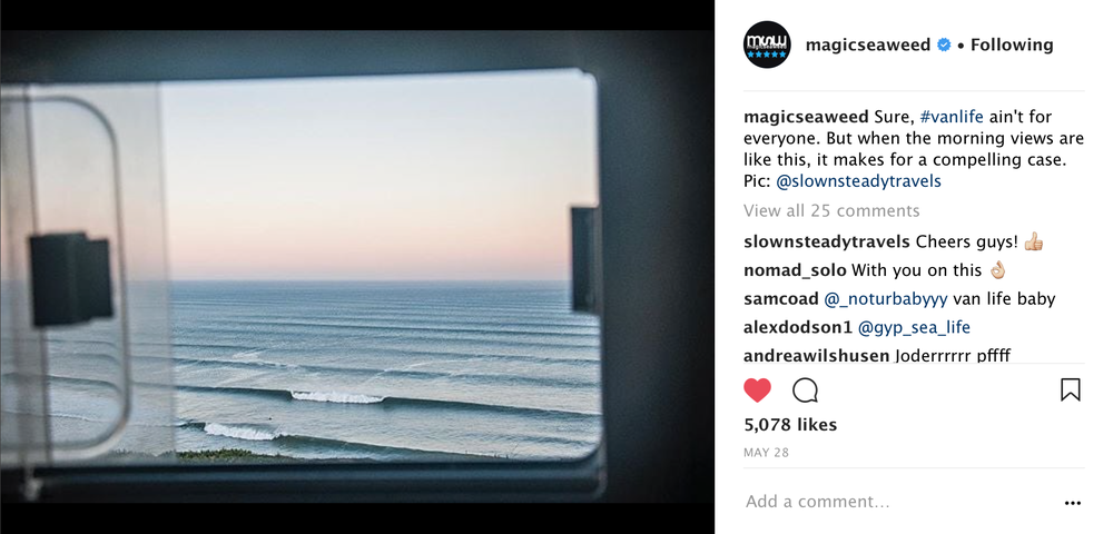 Window views on the road - Magicseaweed
