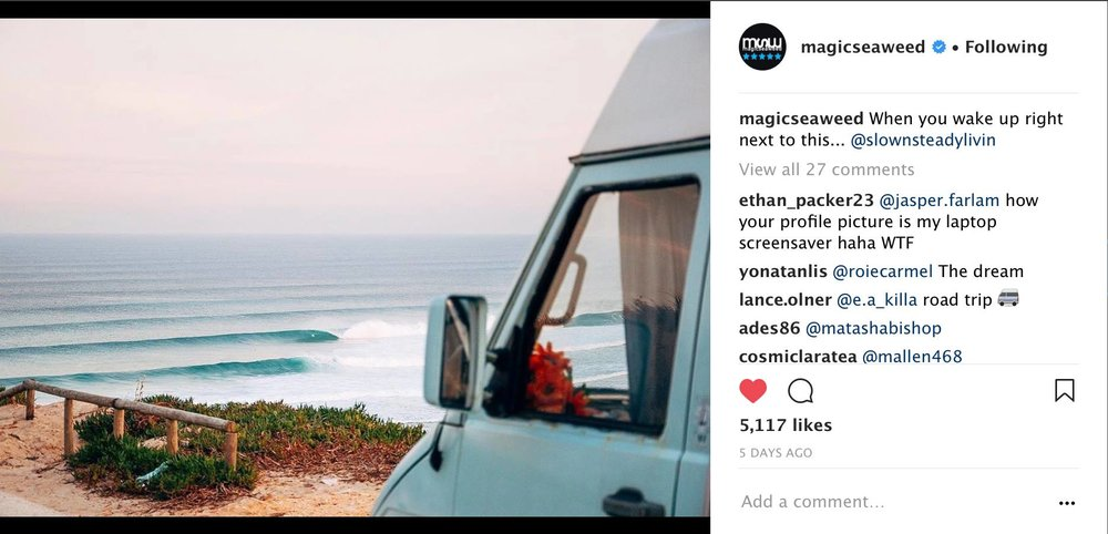 Morning views from the van - Magicseaweed