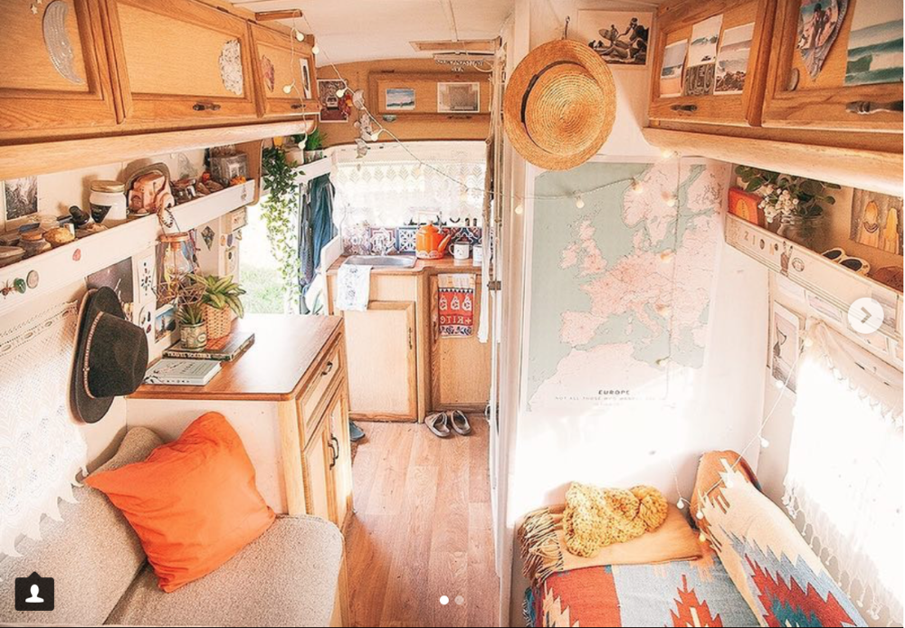 The map in the van (Image from Instagram)