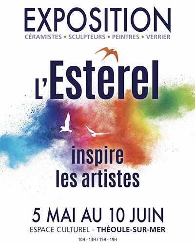 "Showing at the exhibition ""L'Estérel inspire les artistes"" in Théoule-sur-Mer from the 5th May until the 10th June 2018."