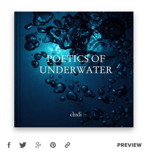 Poetics of Underwater photobook on Blurb