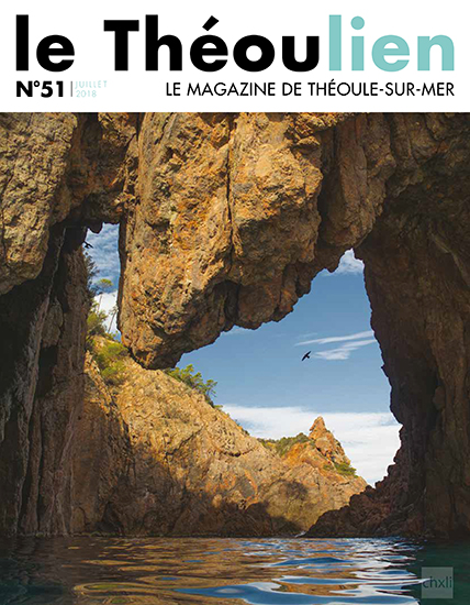 My thanks to the Théoule local authorities for having chosen my picture of the Arch at La Pointe de l'Aiguille for their monthly publication!