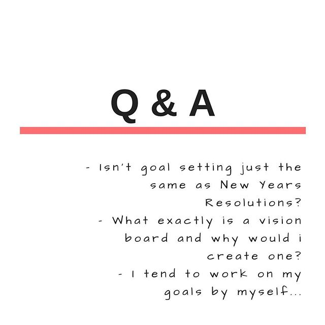 "These are some of the questions and comments I have been receiving about the planning workshop so I thought I would answer them below. --------------------------------------- What is the deal with goal setting - isn't it just the same as the usual New Year resolutions? --------------------------------------- I hear you on the New Year resolutions and to be honest they very rarely work and most people tend to give up on them a few weeks into the year.  The deal with the goal setting and planning workshop  is that you take time out to think about your values, where you would like to be, what you would like to achieve and how you would like to feel at the end of 2017.  You also prioritise what's important and then set tangible action plans and deadlines to achieve them. This is very different to simply writing down that for example ""I would like to launch a business in 2017"" --------------------------------------- What is a vision board and what is the point of doing one? Isn't is just about having fun cutting and sticking things up? --------------------------------------- Ah yes the vision board.... sounds a little woo woo and hippyish - but in actual terms a vision board is a visual representation of what you want in your life from your desires to intentions. And there is a vast amount of research to back up the power of visualisation from sports psychology. a study at Harvard etc. And it's worth considering that people like Oprah and Ellen Degeneres use it to map out their goals and dreams to success. Also the studies show that seeing is believing and believing converts to reality... So many of us tend to focus on the negative and what we don't want in life as opposed to what we do want -  but by putting up a visual representation of your dreams in a visible place day in and day out - you start to move closer to your dreams. Whether it's by becoming more dedicated to making it happen or seeing opportunities that you would somehow have missed or by attracting what you want towards you... --------------------------------------- I usually do my planning by myself, why would I attend a workshop?  If you are someone who has it all figured out, prefer to work"