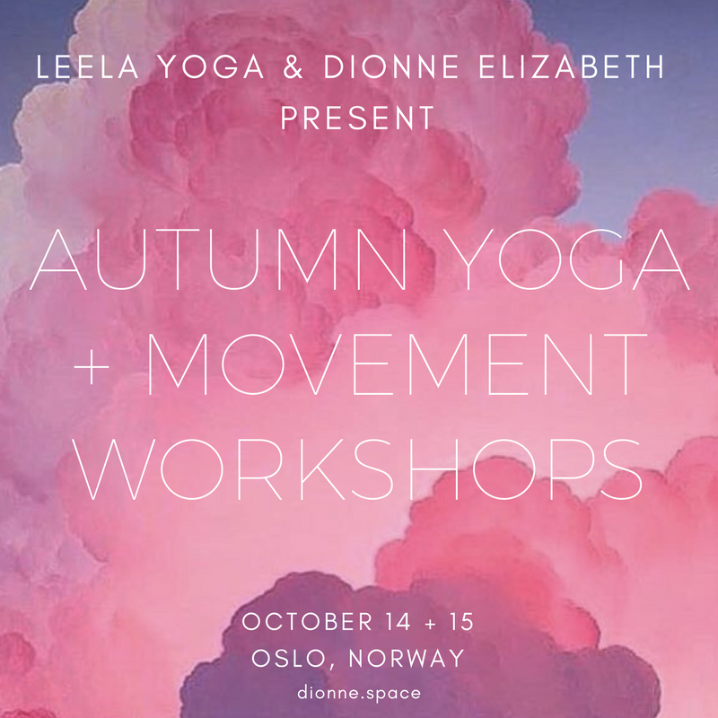 dionne.space Oslo autumn workshops