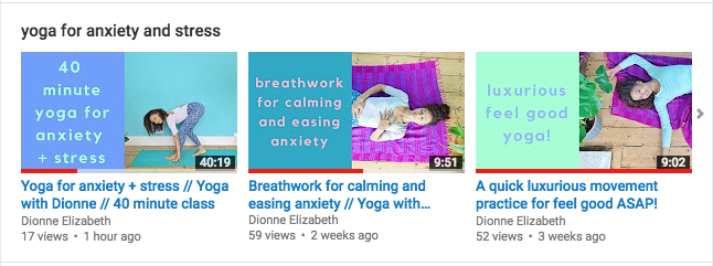 dionne yoga youtube self care