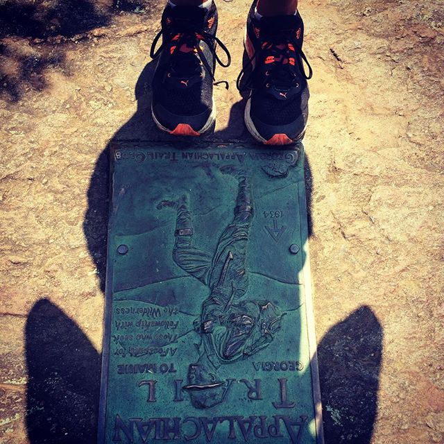 7.5 mile run/hike to the southern terminus of the AT in Georgia #ktcelite #pumarunning #Harnishhoneymoon