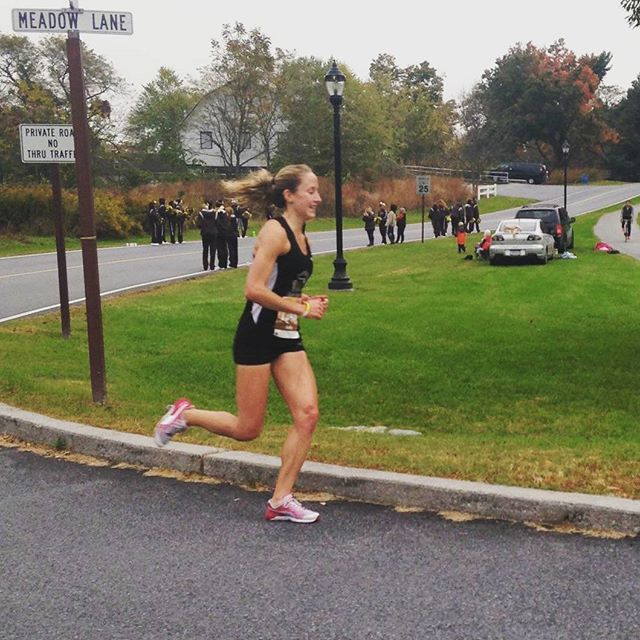 Emily Giannotti looking strong this morning in the Hershey Half Marathon!!!! #keystonetrackclub #ktcelite #pumarunning #feetures