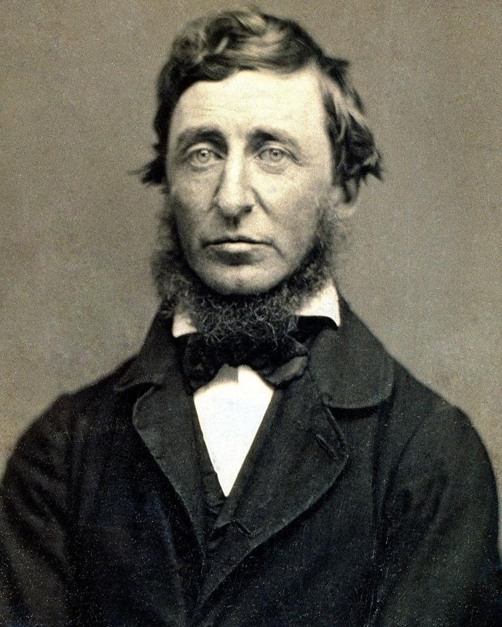 Henry David Thoreau author of Walden. One of the original hipsters.