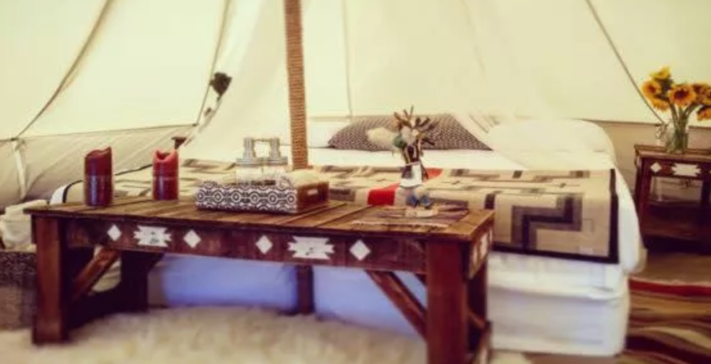 You too could be glamping at the Taos Vortex.