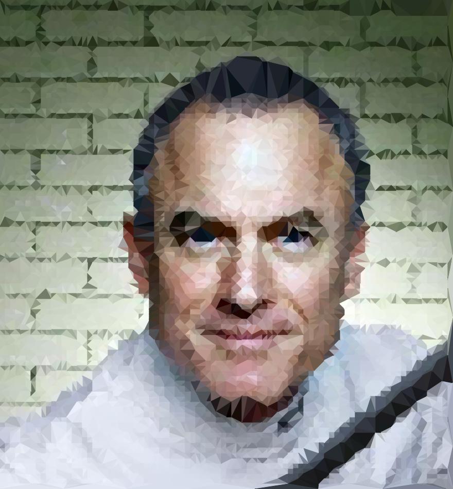Steve Kaufer , CEO of TripAdvisor; original photograph by Tom Stockill; transformed by LUFT.