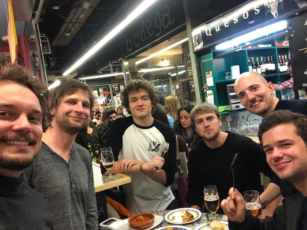 With the folks at   Transparent  . Mercado de San Miguel, Madrid