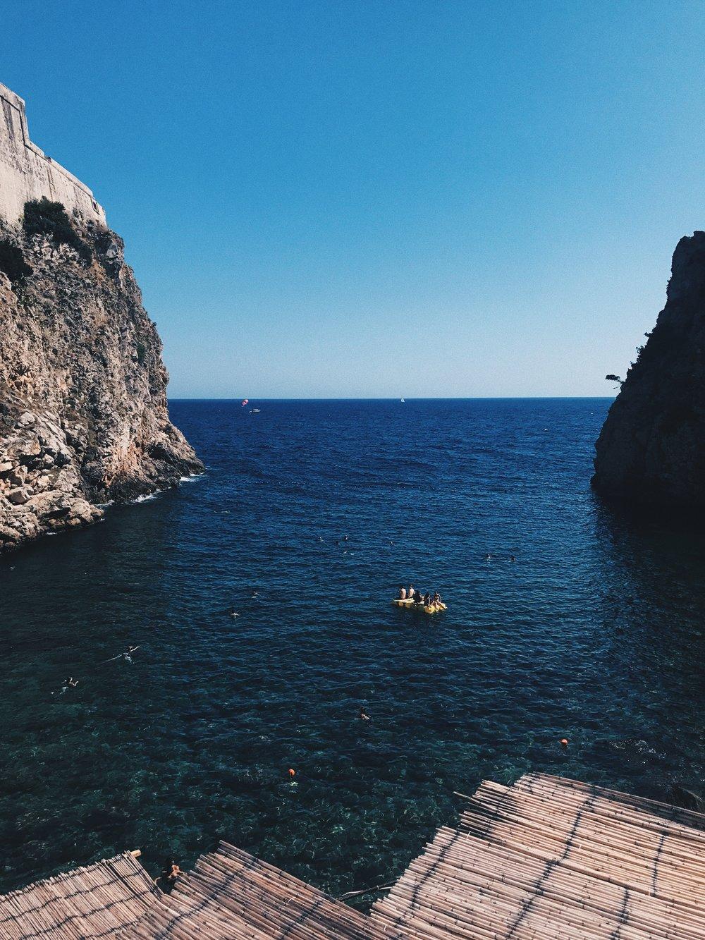 traveling in croatia swimming in dubrovnik.jpg