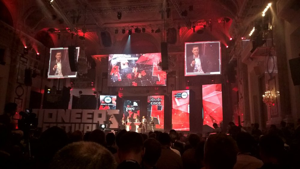 The main stage of the Pioneers Festival
