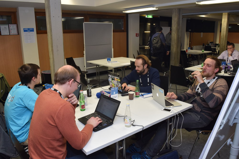 Our team at the Andritz hackathon in Graz. Full focus mode on.