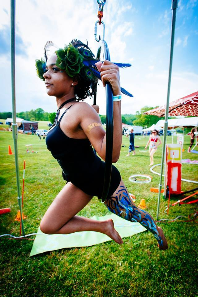 Maya Skye  has been the live performer coordinator for three years at ColorDance. She herself is an aerialist, hoop dancer, and tribal fusion belly dancer