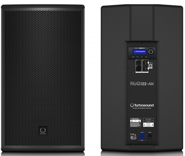 "Turbosound NuQ122-AN 2-Way 12"" Full Range Powered Loudspeaker, 2500W Maximum Output Power, Single"