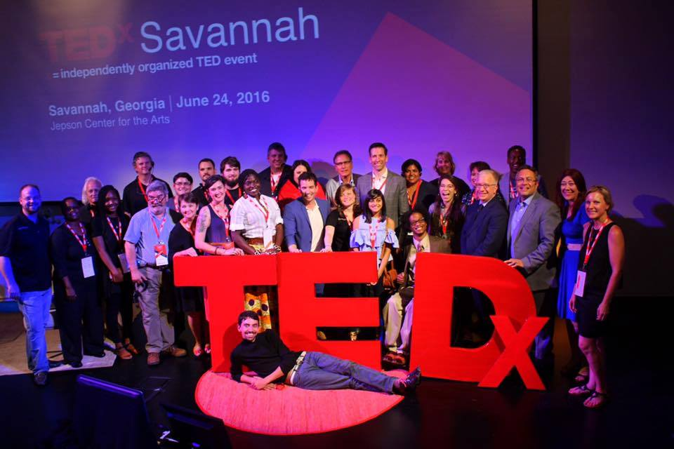 TEDx Savannah - Jepson Center  Sound reinforcement, Broadcast Audio and Stage Lighting