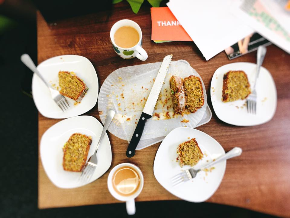 Sarah's Cardamom, Pistachio and Lemon Drizzle Cake, which lasted all of about 2 minutes!