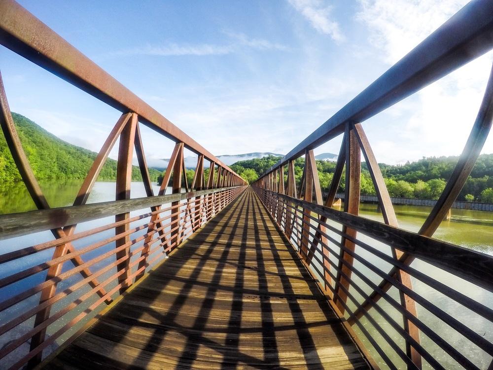 The longest footbridge on the AT