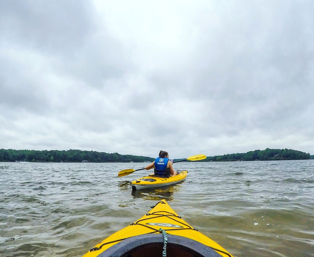 Kayaking on Lake Anna