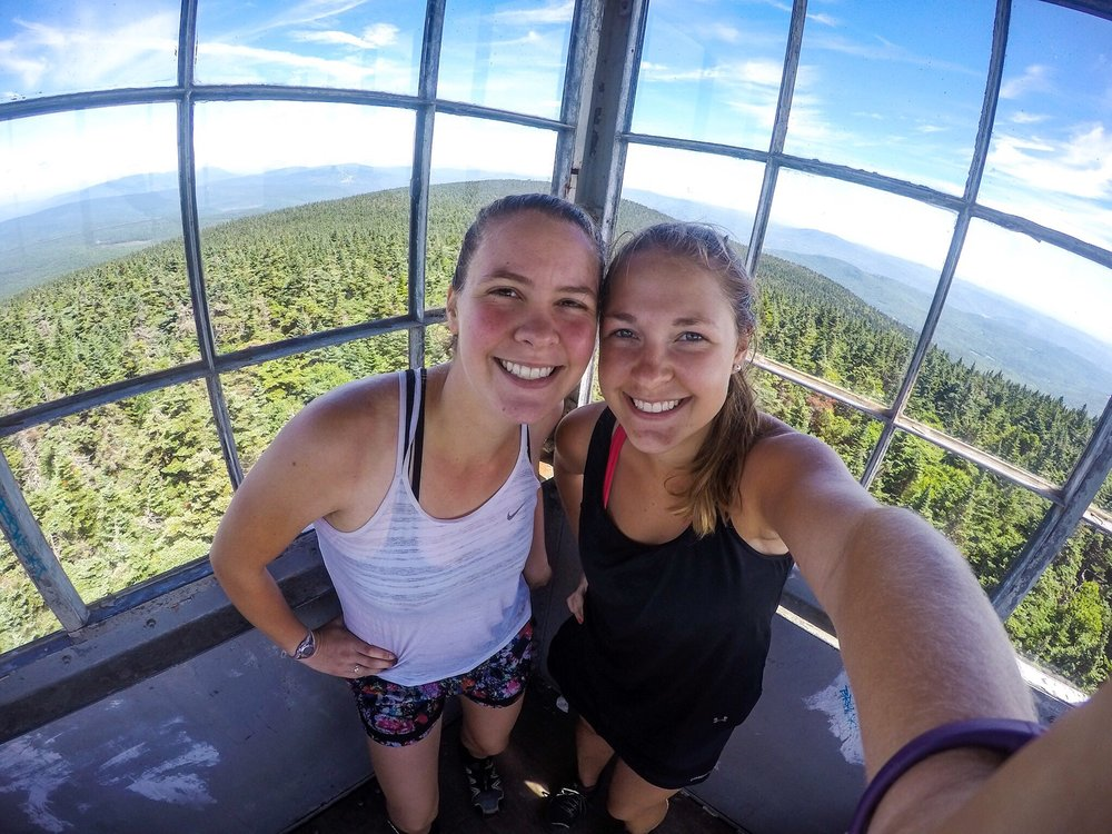 Same outfit, different fire tower, different day